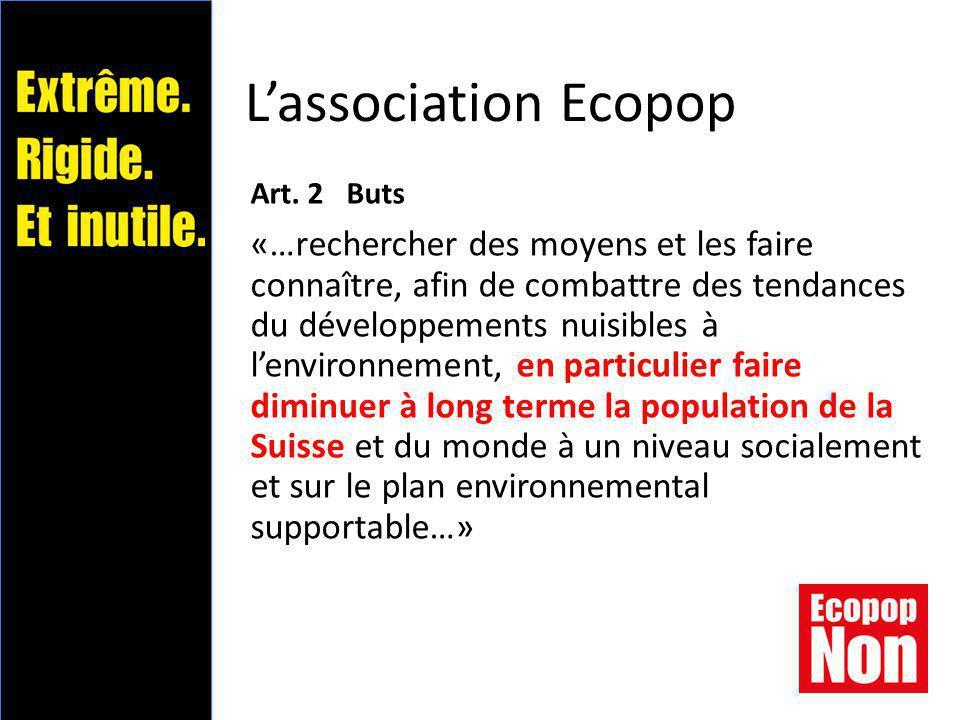 Messages principaux (1/2)  Rigide et extrême, l'initiative Ecopop n'apporte aucune solution praticable.