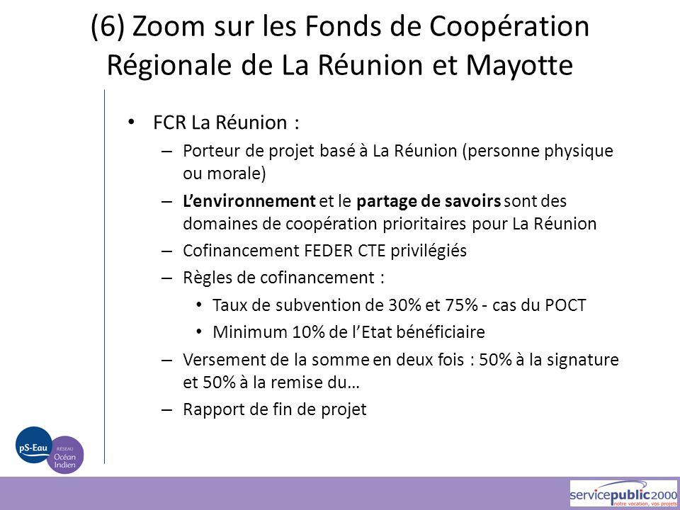 FCR La Réunion : – Porteur de projet basé à La Réunion (personne physique ou morale) – L'environnement et le partage de savoirs sont des domaines de c
