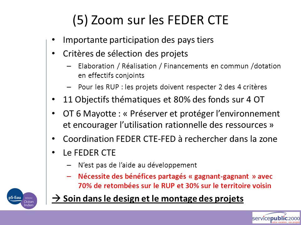 Importante participation des pays tiers Critères de sélection des projets – Elaboration / Réalisation / Financements en commun /dotation en effectifs
