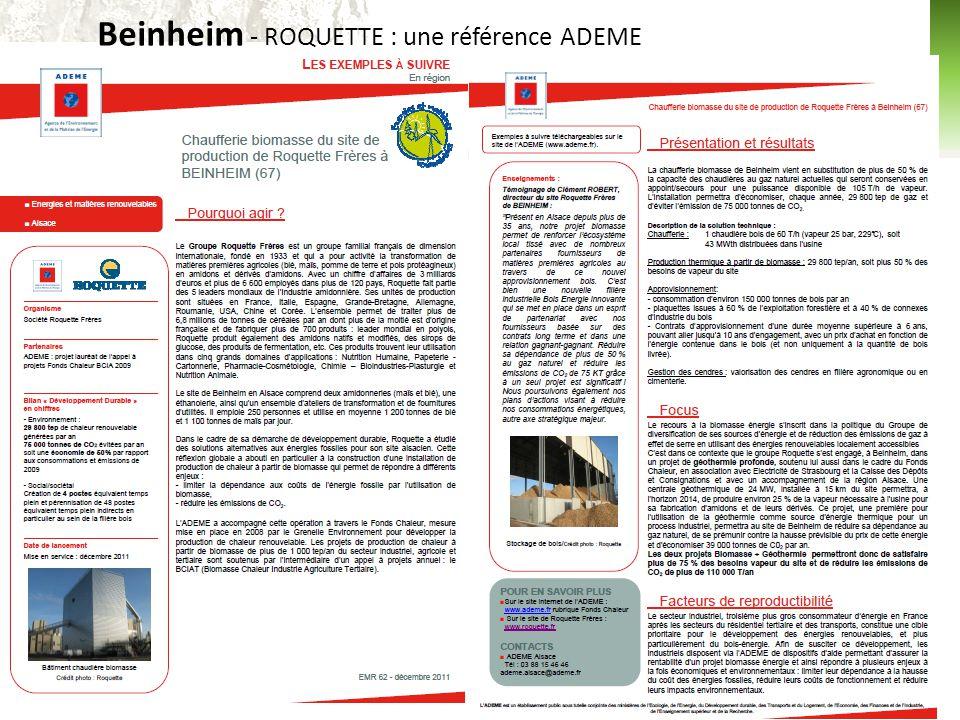 10 Beinheim - ROQUETTE : une référence ADEME