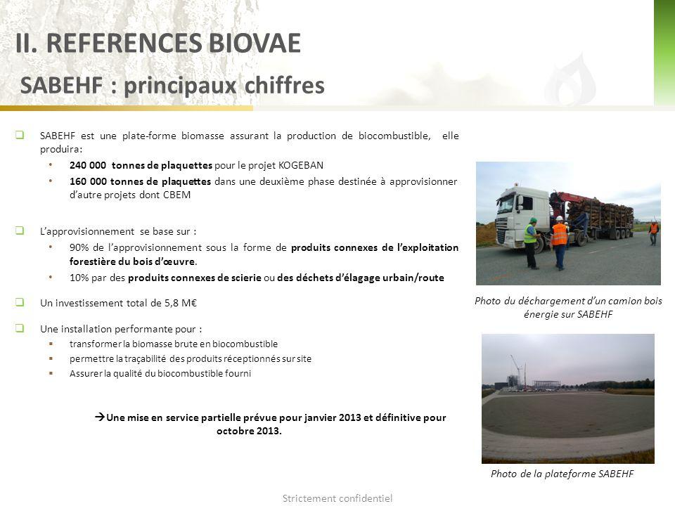  SABEHF est une plate-forme biomasse assurant la production de biocombustible, elle produira: 240 000 tonnes de plaquettes pour le projet KOGEBAN 160 000 tonnes de plaquettes dans une deuxième phase destinée à approvisionner d'autre projets dont CBEM  L'approvisionnement se base sur : 90% de l'approvisionnement sous la forme de produits connexes de l'exploitation forestière du bois d'œuvre.