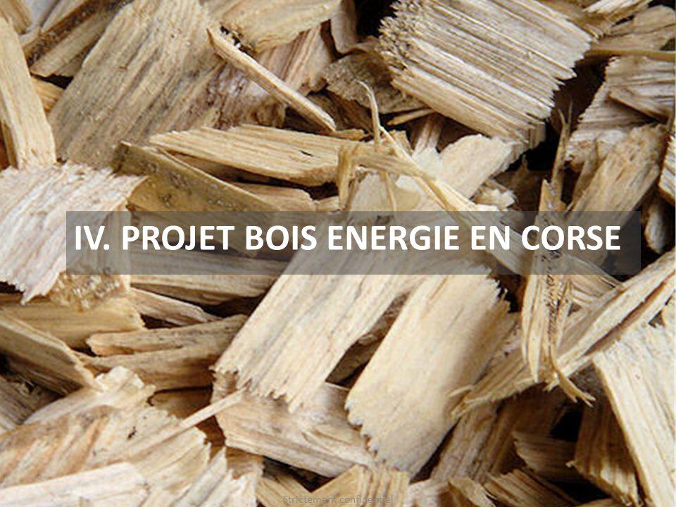 IV. PROJET BOIS ENERGIE EN CORSE Strictement confidentiel