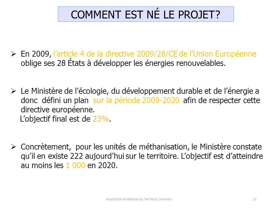  En 2009, l'article 4 de la directive 2009/28/CE de l'Union Européenne oblige ses 28 États à développer les énergies renouvelables.
