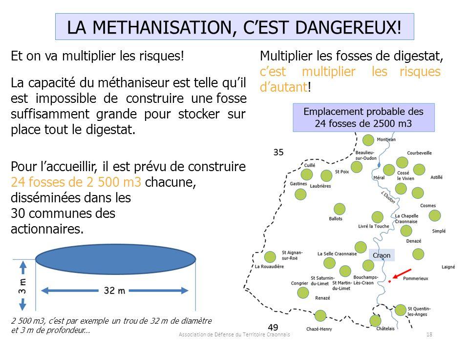 Association de Défense du Territoire Craonnais18 LA METHANISATION, C'EST DANGEREUX.