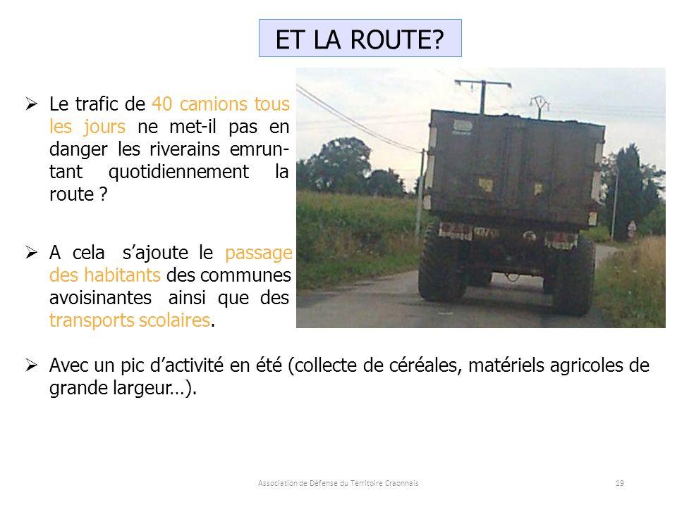 Association de Défense du Territoire Craonnais19 ET LA ROUTE.