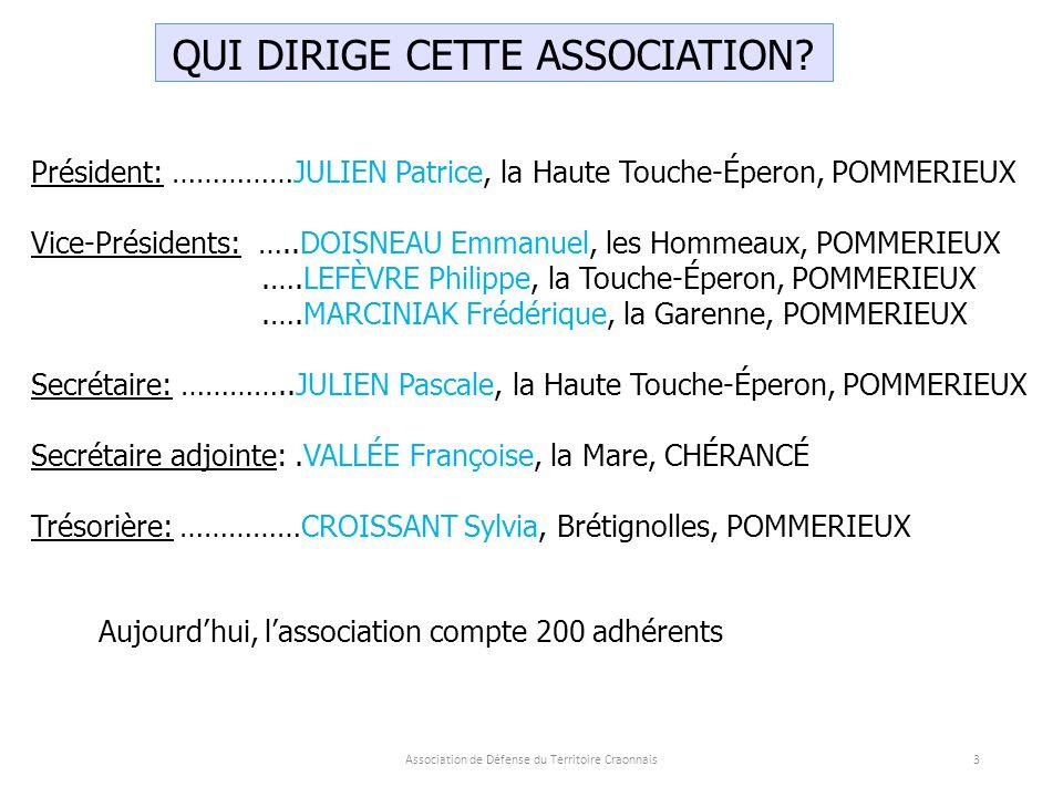 Association de Défense du Territoire Craonnais14 Qui est INERIS.