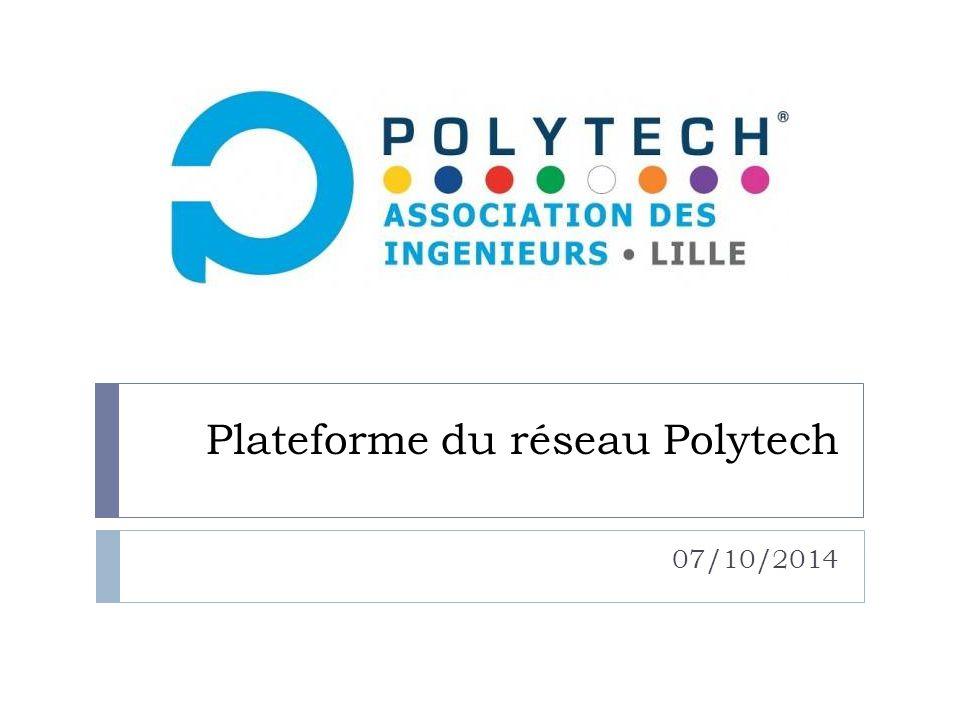 Plateforme du réseau Polytech 07/10/2014
