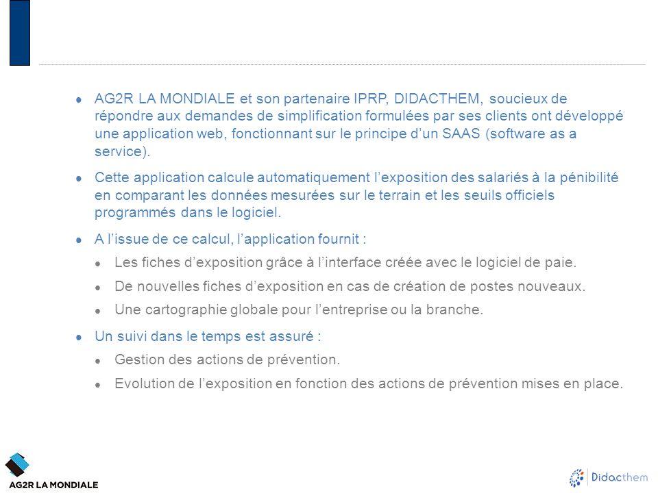 AG2R LA MONDIALE et son partenaire IPRP, DIDACTHEM, soucieux de répondre aux demandes de simplification formulées par ses clients ont développé une ap