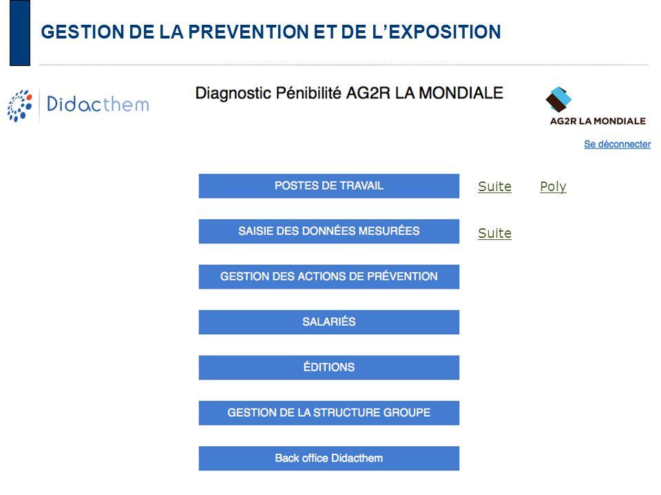 GESTION DE LA PREVENTION ET DE L'EXPOSITION Suite Poly