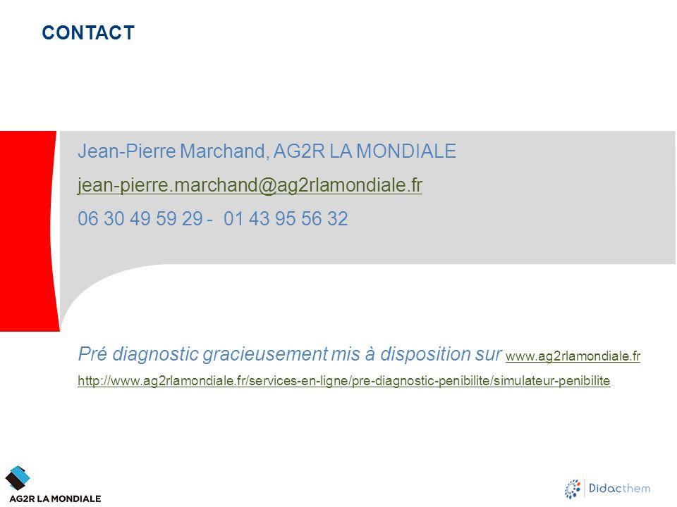 CONTACT Jean-Pierre Marchand, AG2R LA MONDIALE jean-pierre.marchand@ag2rlamondiale.fr 06 30 49 59 29 - 01 43 95 56 32 Pré diagnostic gracieusement mis