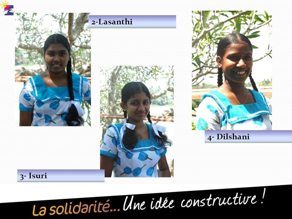 2-Lasanthi 3- Isuri 4- Dilshani