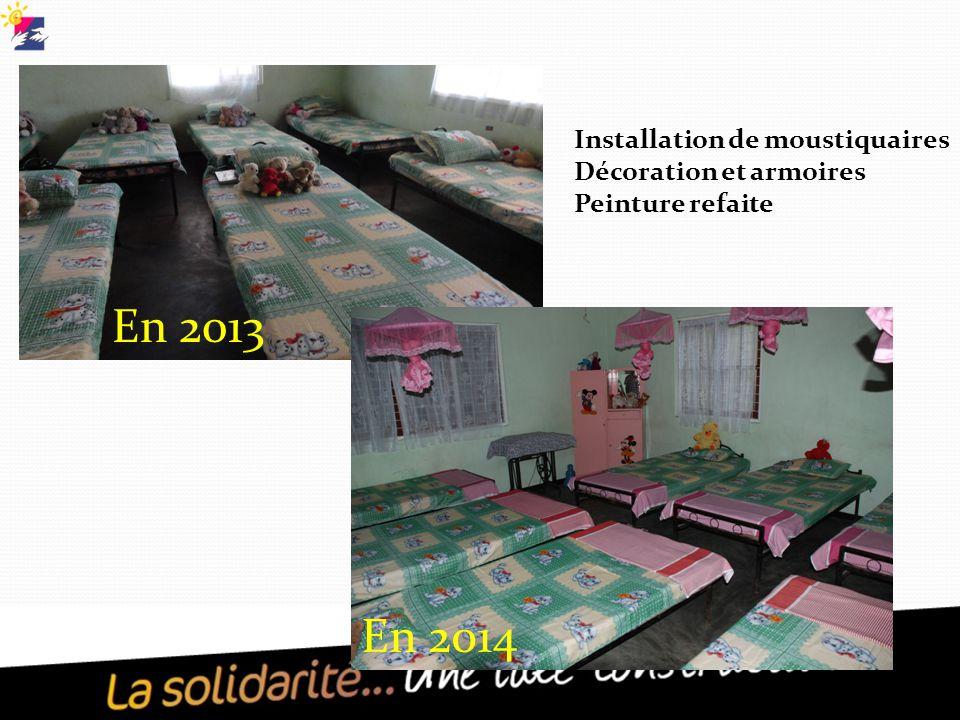 En 2013 En 2014 Installation de moustiquaires Décoration et armoires Peinture refaite