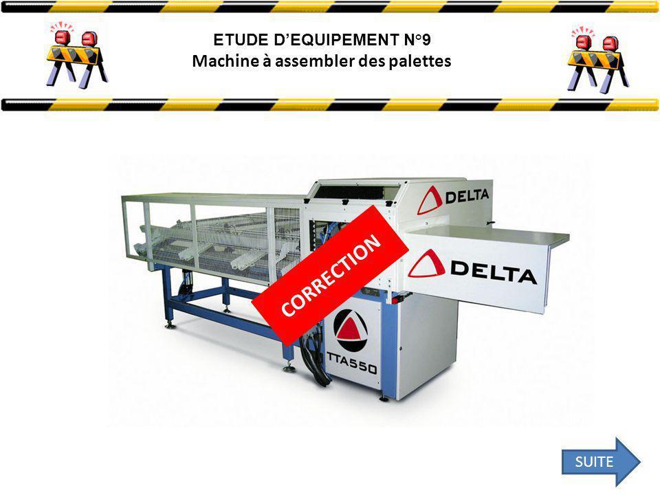ETUDE D'EQUIPEMENT N°9 Machine à assembler des palettes CORRECTION SUITE