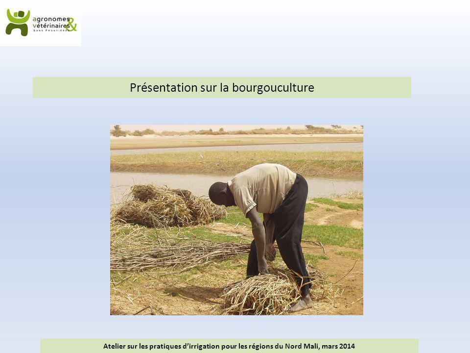 Présentation sur la bourgouculture Atelier sur les pratiques d'irrigation pour les régions du Nord Mali, mars 2014
