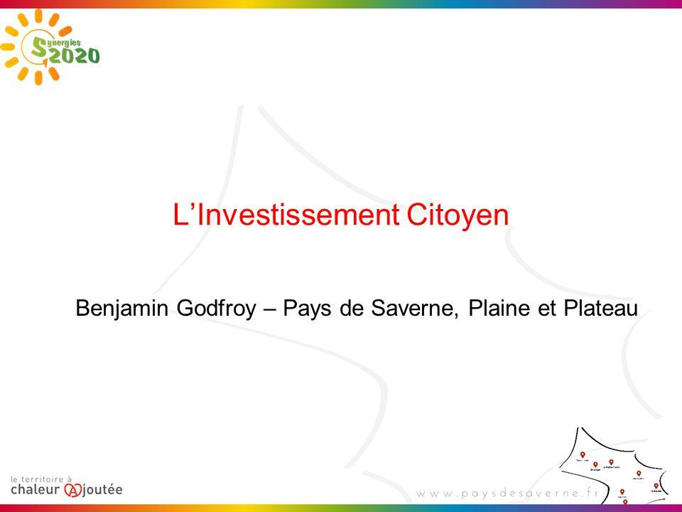 L'Investissement Citoyen Benjamin Godfroy – Pays de Saverne, Plaine et Plateau