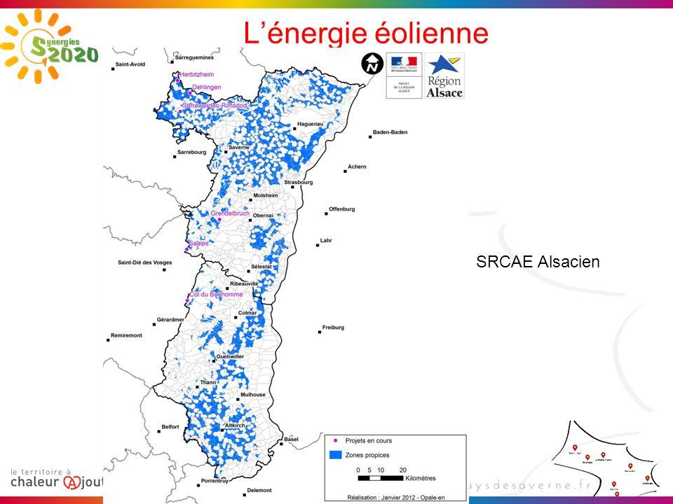 L'énergie éolienne SRCAE Alsacien