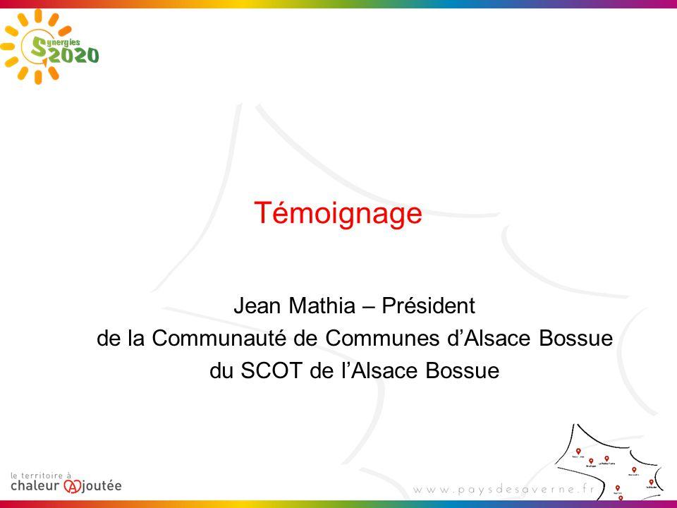 Témoignage Jean Mathia – Président de la Communauté de Communes d'Alsace Bossue du SCOT de l'Alsace Bossue