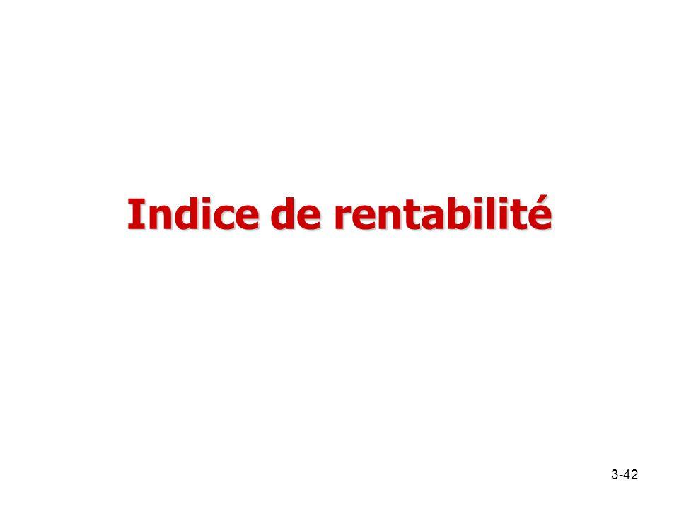 Indice de rentabilité 3-42