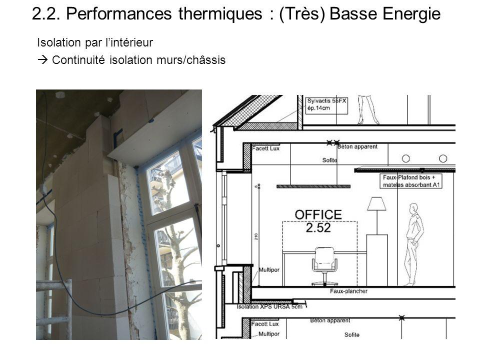 Rénovation respectueuse du bâtiment existant qui l'optimise en le respectant  Isolation par l'intérieur  Double vitrage (au lieu de triple)  Possib