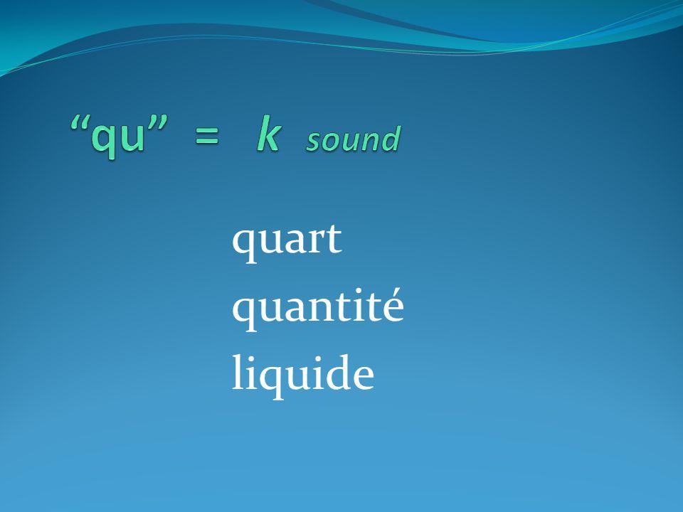 quart quantité liquide