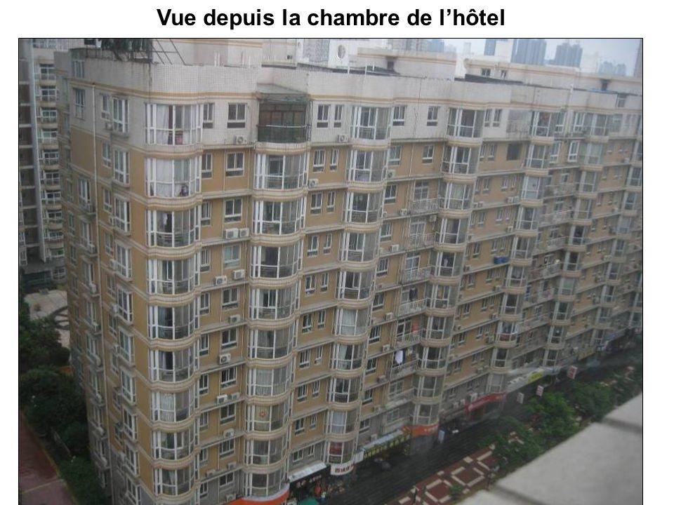 Vue depuis la chambre de l'hôtel