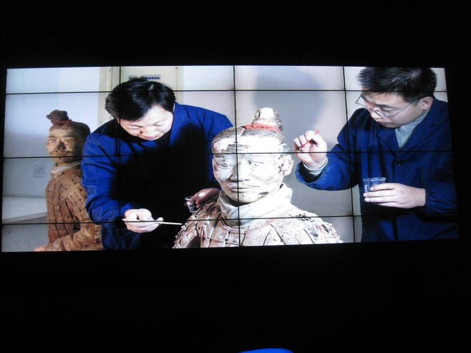 La restauration des statues de terre cuite