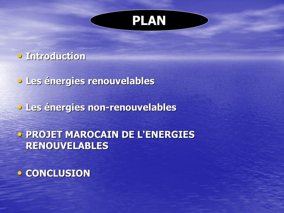 PLAN Introduction Introduction Les énergies renouvelables Les énergies renouvelables Les énergies non-renouvelables Les énergies non-renouvelables PRO