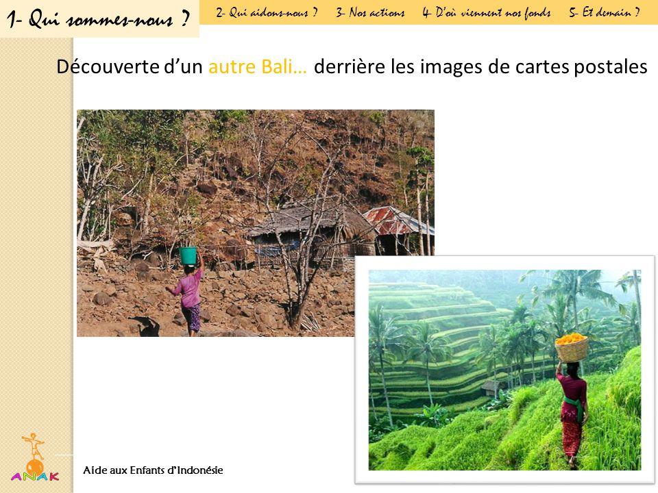 Découverte d'un autre Bali… derrière les images de cartes postales Aide aux Enfants d'Indonésie Présentation Générale 1- Qui sommes-nous .