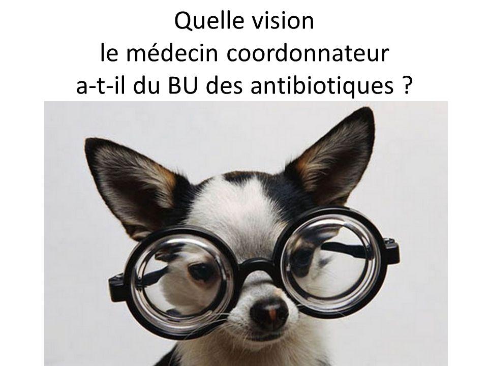 Quelle vision le médecin coordonnateur a-t-il du BU des antibiotiques ?