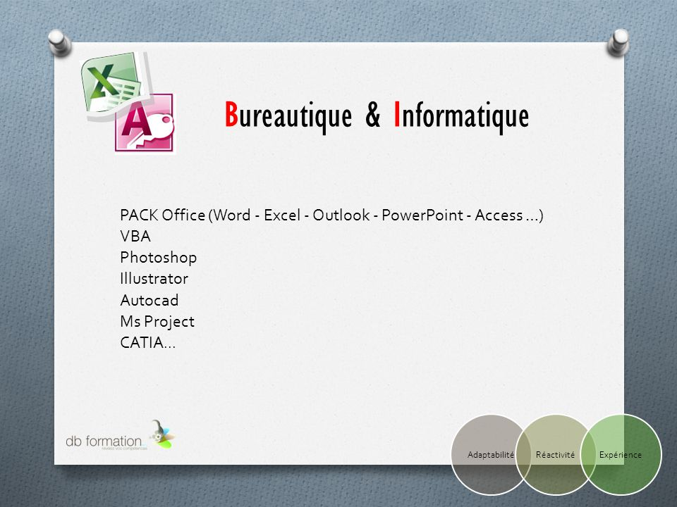 PACK Office (Word - Excel - Outlook - PowerPoint - Access …) VBA Photoshop Illustrator Autocad Ms Project CATIA...