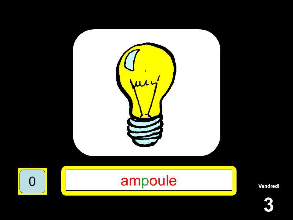 Vendredi 3 1510515 ******* 15105 **P**** 151055 AMPOULE 151050 ampoule 151050