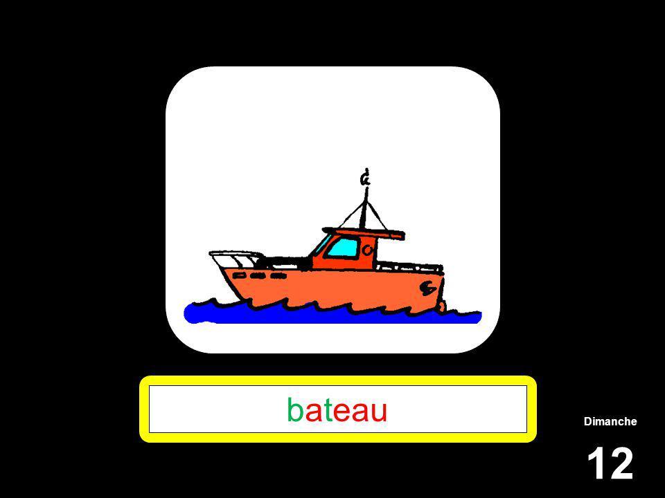 Dimanche 12 bateau