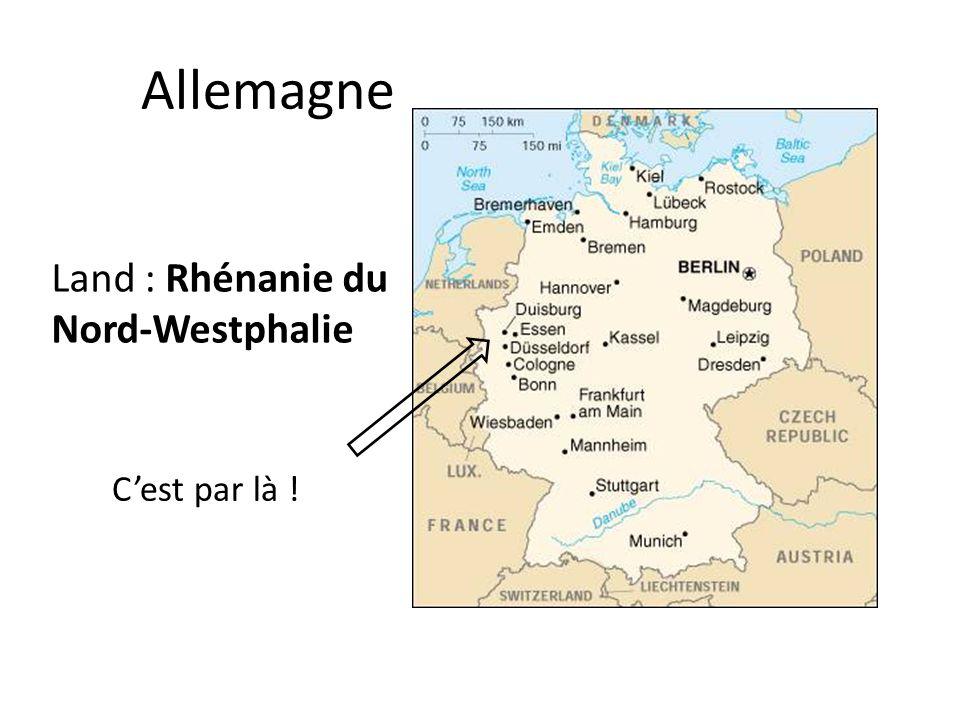 Allemagne Land : Rhénanie du Nord-Westphalie C'est par là !