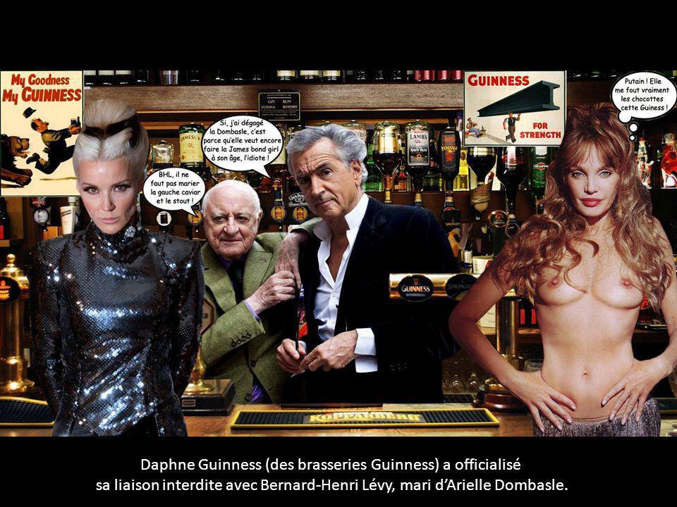 Daphne Guinness (des brasseries Guinness) a officialisé sa liaison interdite avec Bernard-Henri Lévy, mari d'Arielle Dombasle.