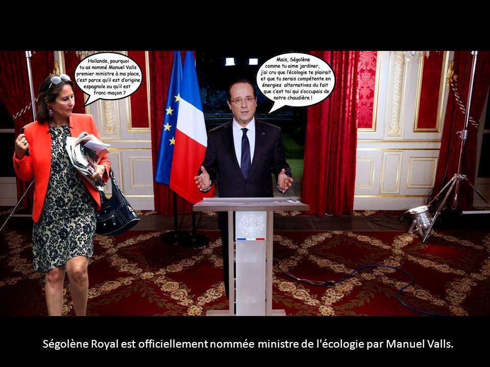 Ségolène Royal est officiellement nommée ministre de l écologie par Manuel Valls.