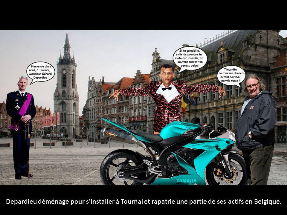 Depardieu déménage pour s'installer à Tournai et rapatrie une partie de ses actifs en Belgique.