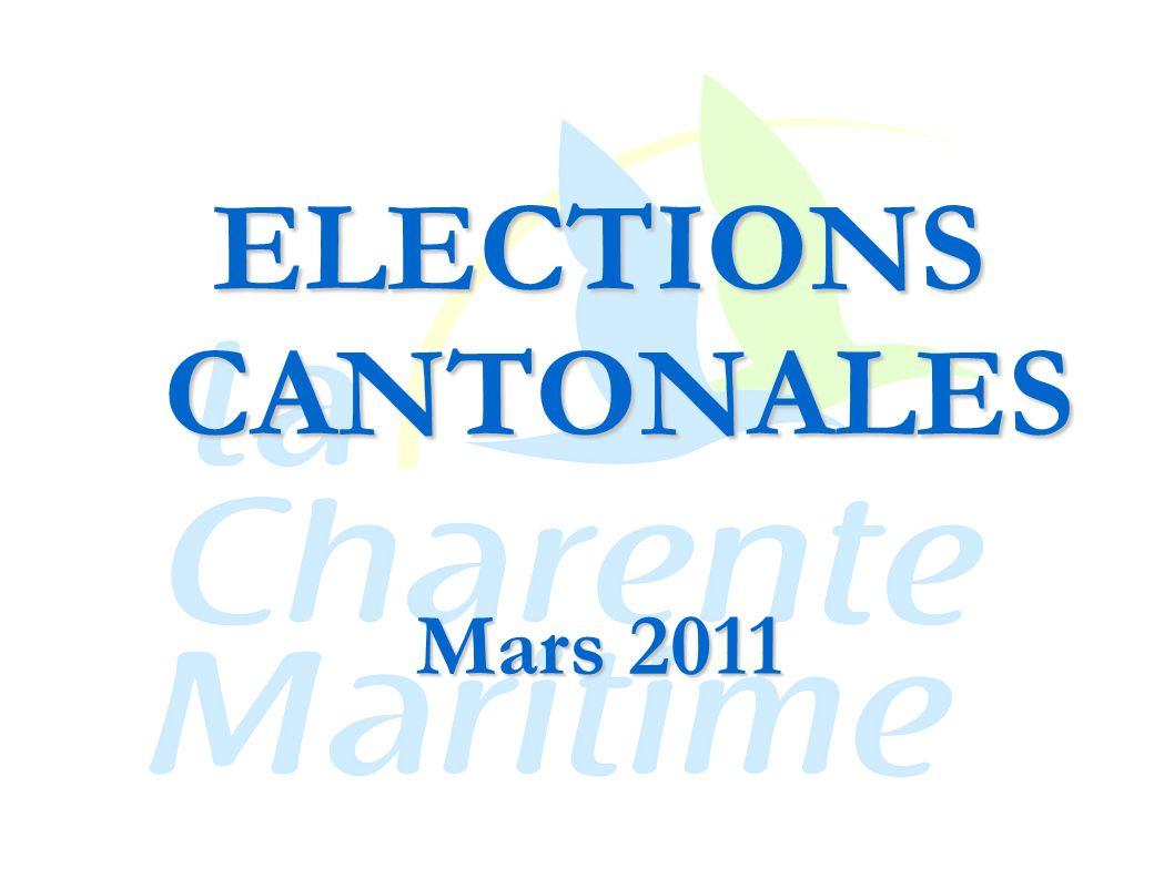 ELECTIONS CANTONALES Mars 2011