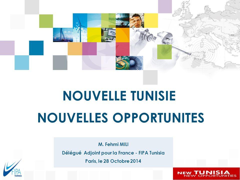 0 119 169 71 135 219 215 255 R 137 G 146 B 155 219 215 255 219 242 249 Couleurs PrimairesCouleurs secondaires 255 L'Environnement de l'Investissement La Situation des IDE en Tunisie Les secteurs porteurs NOUVELLE TUNISIE NOUVELLES OPPORTUNITES La Coopération Tuniso-Française