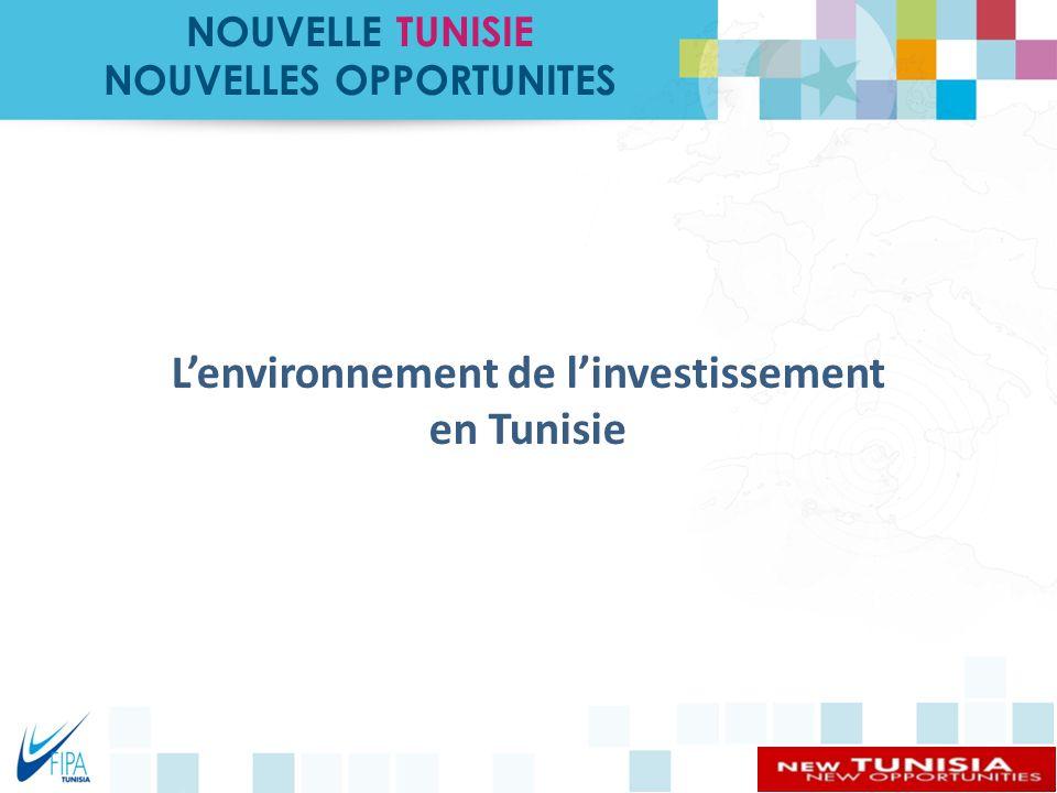 0 119 169 71 135 219 215 255 R 137 G 146 B 155 219 215 255 219 242 249 Couleurs PrimairesCouleurs secondaires 255 - Proximité géographique - Accords de libre échange - Infrastructure - Ressources humaines - Coûts Compétitifs - Cadre Légal Les Atouts concurrentiels de la Tunisie