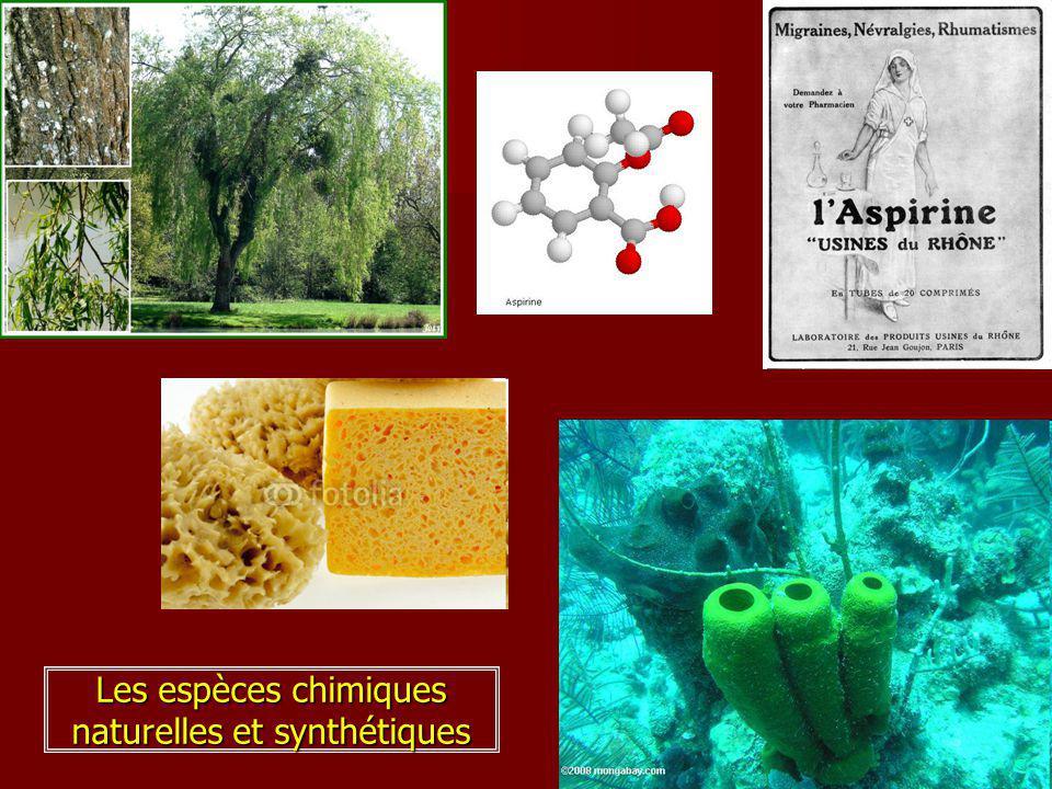 Les espèces chimiques naturelles et synthétiques