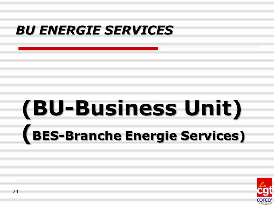(BU-Business Unit) ( BES-Branche Energie Services) 24 BU ENERGIE SERVICES