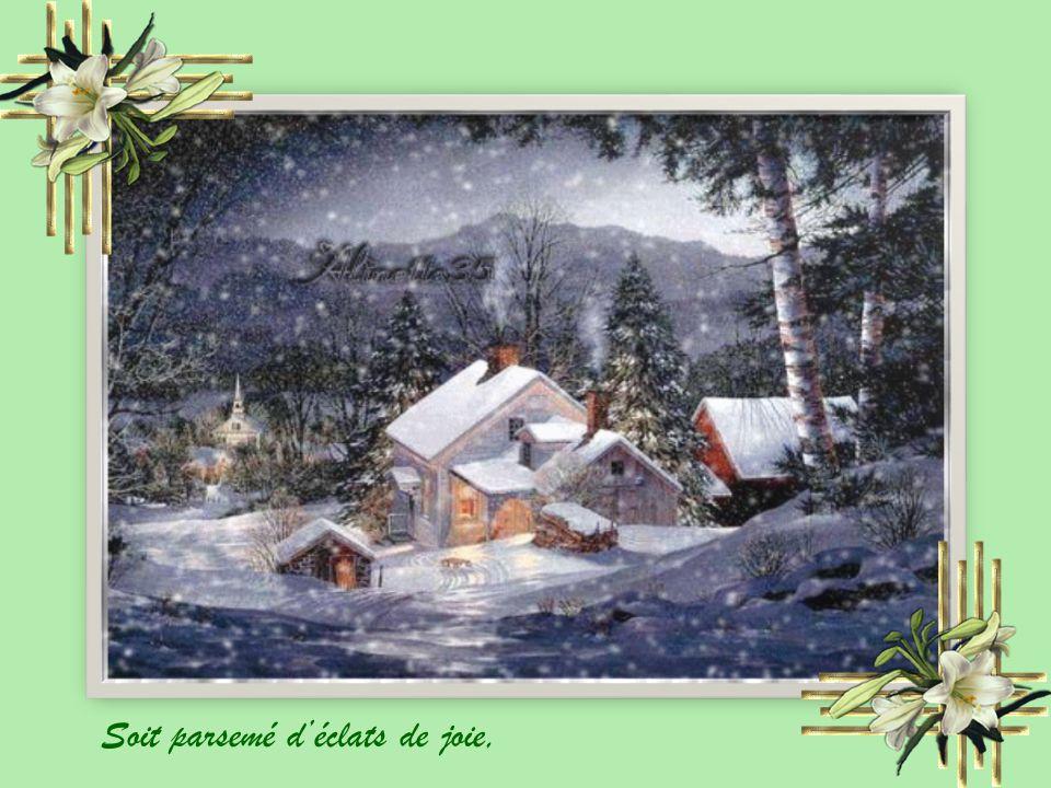 Je vous souhaite une merveilleuse année.