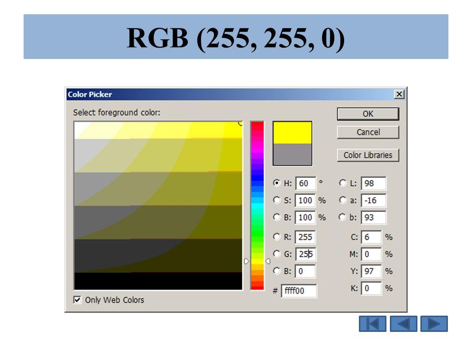 RGB (Red, Green, Blue) RGB (Red, Green, Blue) ou RVB (Rouge, Vert, Bleu) RGB est un mode de couleur additif.
