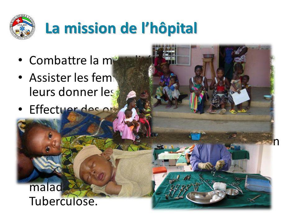 La mission de l'hôpital Combattre la mortalité infantile.