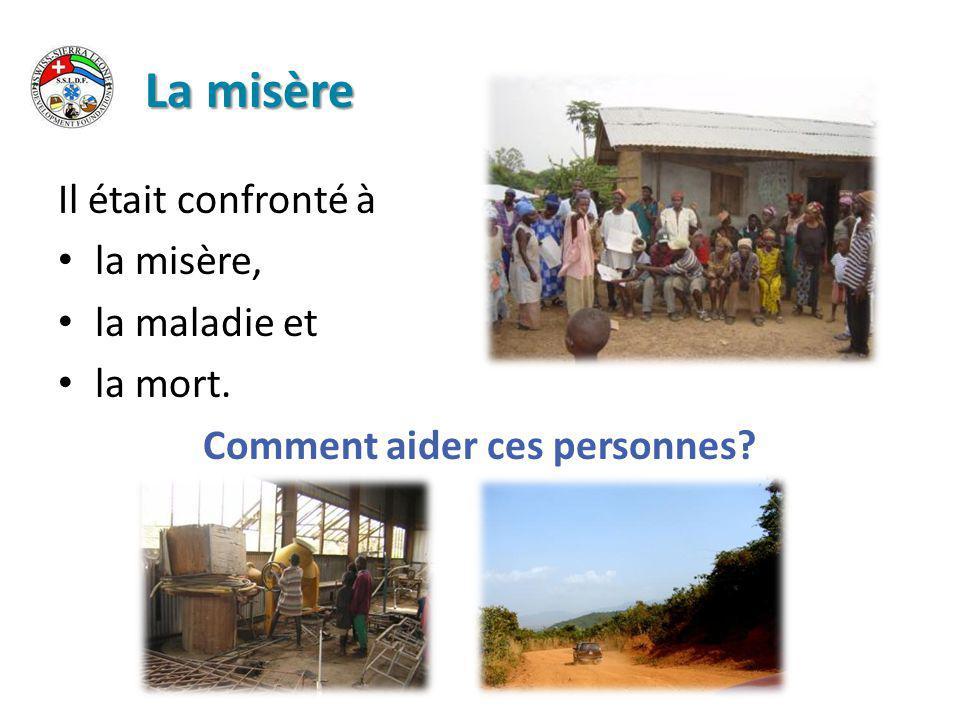 La création de l'association 1996: création de l association Swiss-Sierra Leone Development Foundation Swiss-Sierra Leone Development Foundation (SSLDF)