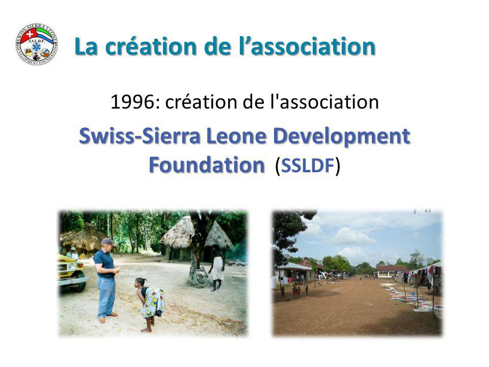 Le rêve de construire un hôpital 1996: SSLDF achète 6 hectares de terrain à Magbenteh, près de Makeni Décembre 2002: début de la construction de l'hôpital