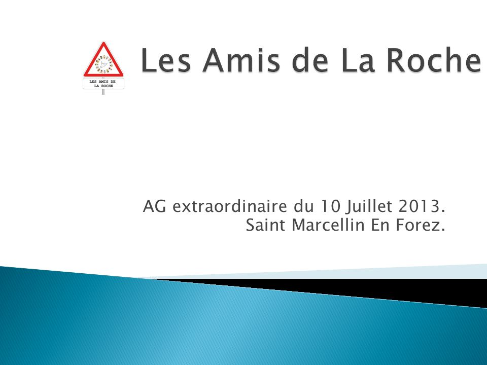 AG extraordinaire du 10 Juillet 2013. Saint Marcellin En Forez.