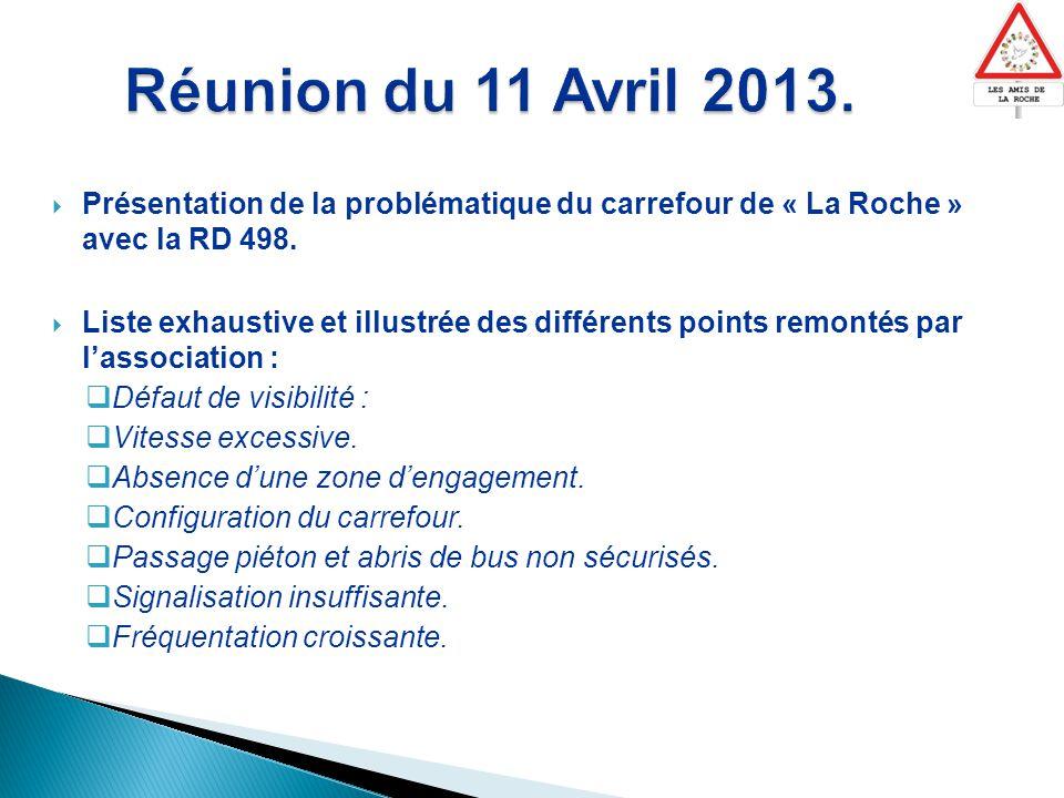  Présentation de la problématique du carrefour de « La Roche » avec la RD 498.