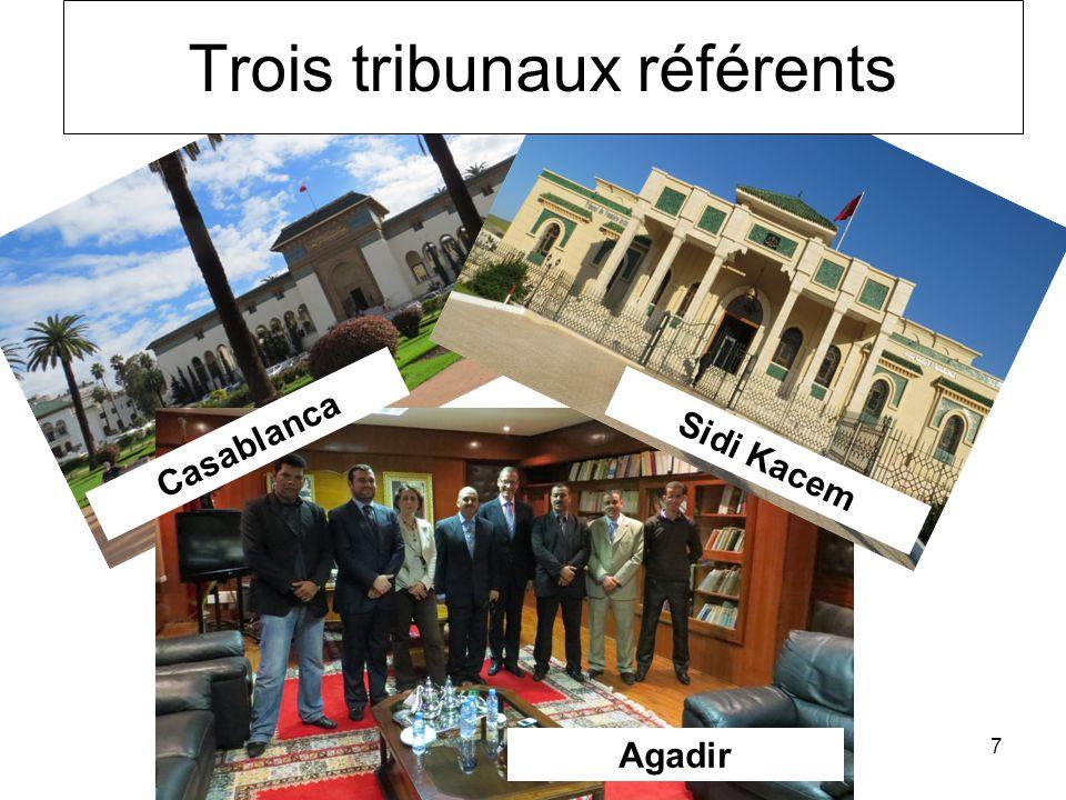7 Casablanca Agadir Sidi Kacem Trois tribunaux référents