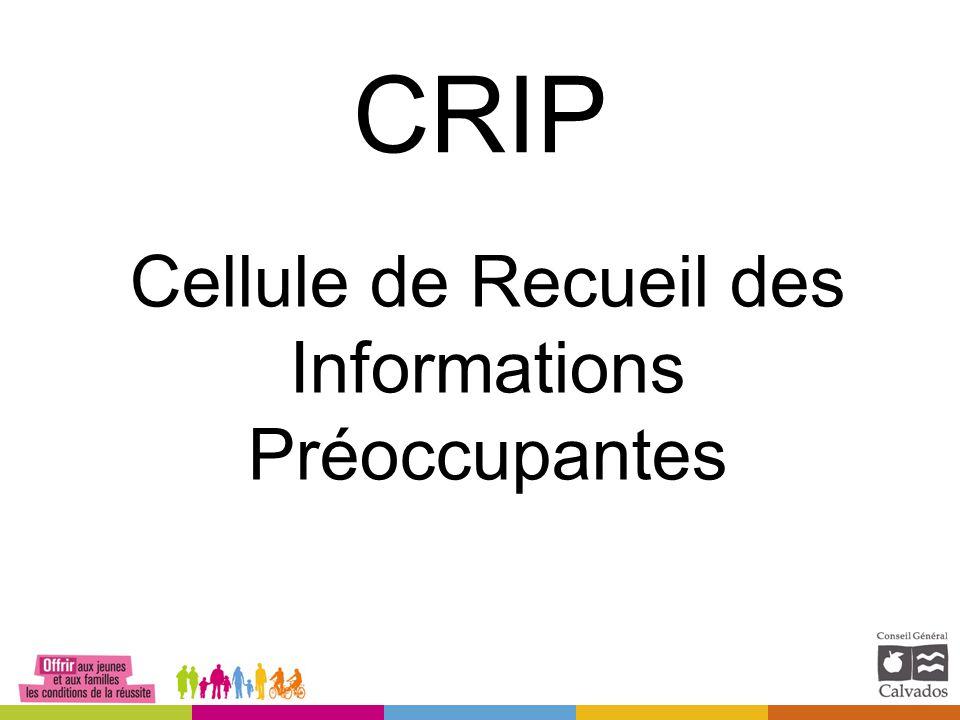 CRIP Cellule de Recueil des Informations Préoccupantes
